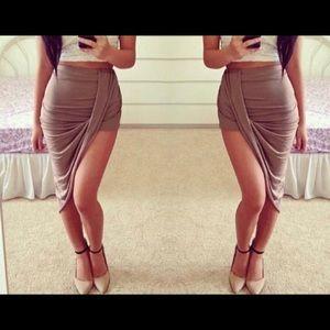 Dresses & Skirts - Asymmetric wrap look skirt
